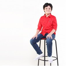 POLOSHIRT RED AND LONG PANT NAVY