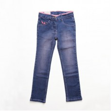 Straight Jeans with Ribbon Detail